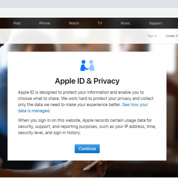 تغییر اطلاعات اپل ایدی در سایت اپل