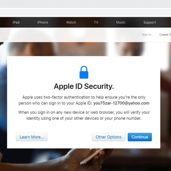 ورود به اکانت اپل آیدی بدون شماره