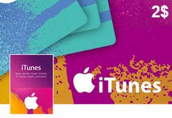 گیفت کارت اپل آیتونز 2 دلاری