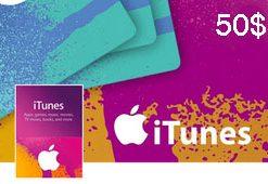 گیفت کارت اپل آیتونز 50 دلاری